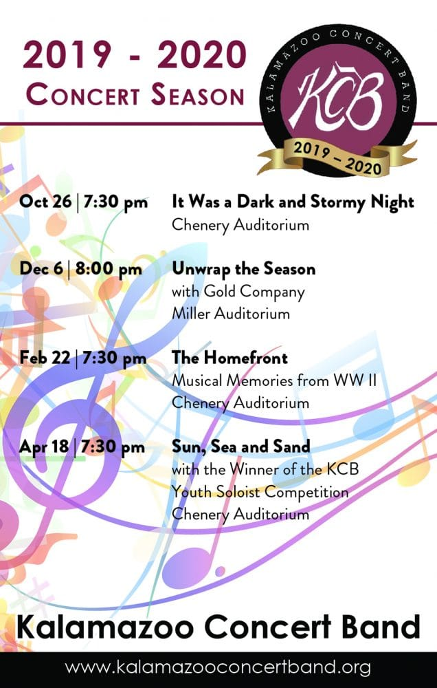 Kalamazoo Concert Band 2019-2020 Performances